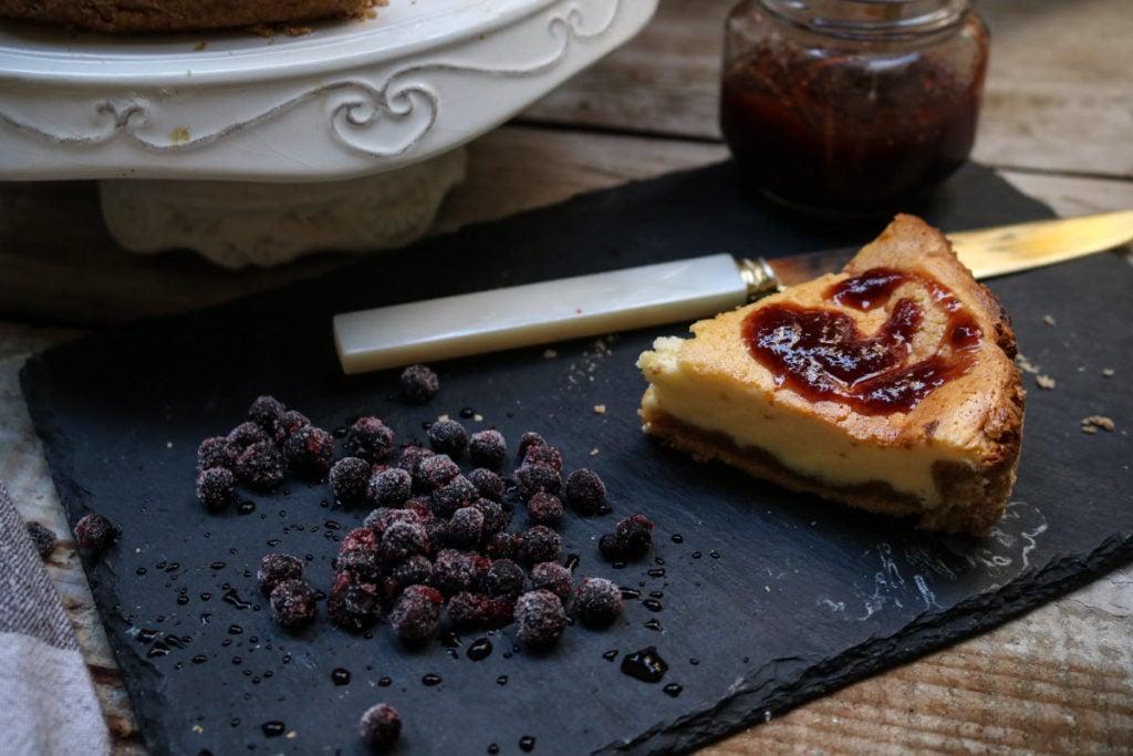 recipe - keto cheesecake with homemade sugar-free jam
