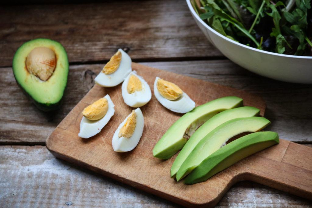 egg avocado keto caesar salad recipe