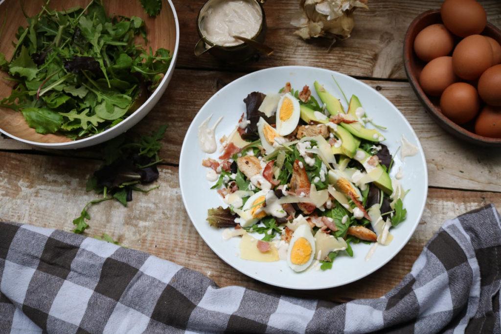 keto caesar salad recipe