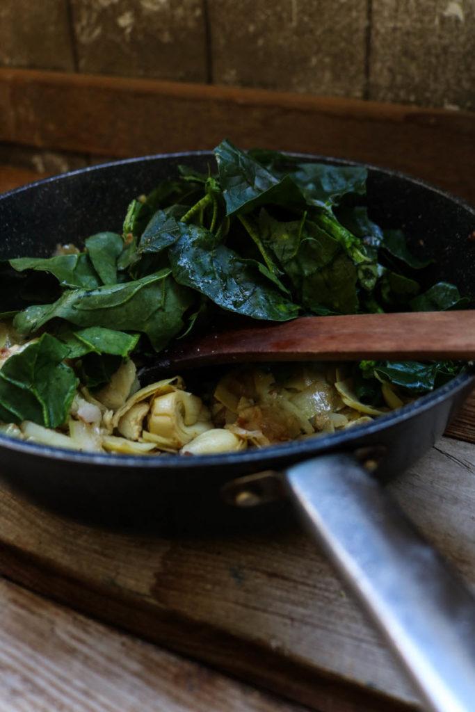 keto chicken artichoke dip - add spinach and garlic
