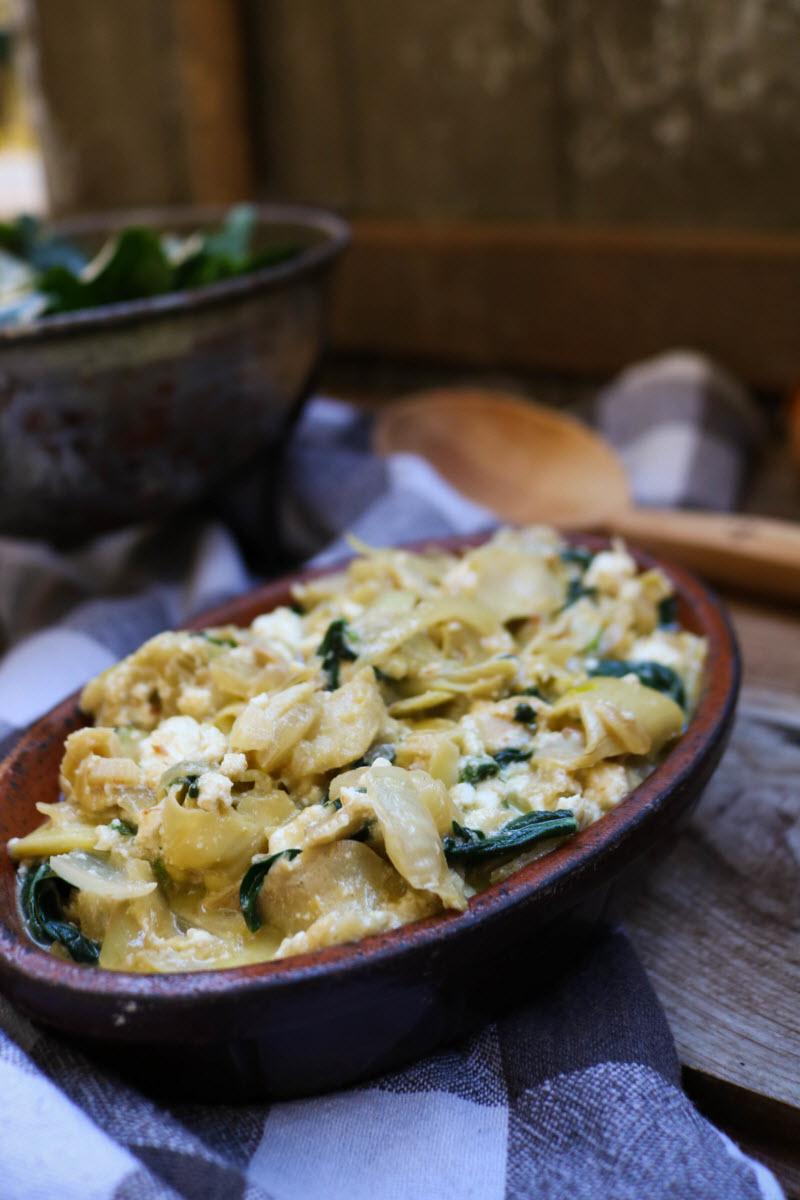 chicken spinach artichoke dip keto recipe