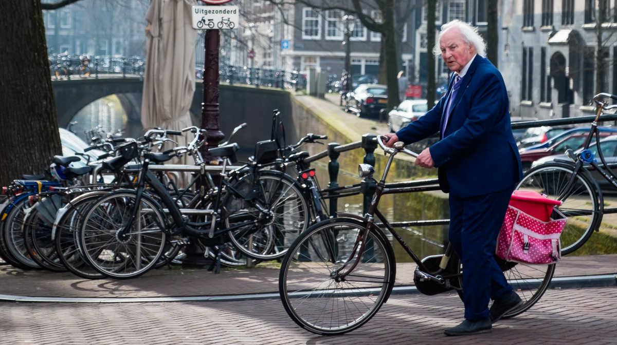 Elderly man in good physical shape